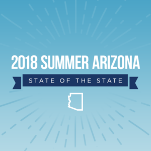 graphic with text 1018 summer arizona state of the state